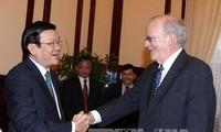 ประธานประเทศ Trương Tấn Sang ให้การต้อนรับผู้อำนวยการบริหารกองทุน UNICEF