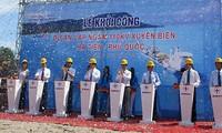 พิธีวางศิลาฤกษ์ก่อสร้างสายไฟฟ้าใต้ทะเลใหญ่ที่สุดในเอเชียตะวันออกเฉียงใต้