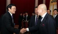 ท่าน เจืองเติ๊นซาง ประธานประเทศให้การต้อนรับคณะผู้แทนสมาพันธ์ผู้ประกอบการญี่ปุ่นประจำเวียดนาม