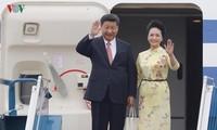 ท่าน สีจิ้นผิง  การกล่าวปราศรัย ณ สนามบินนานาชาติ โหน่ยบ่าย กรุงฮานอย