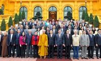 ผลักดันการประสานงานระหว่างประธานประเทศกับคณะประธานของแนวร่วมปิตุภูมิเวียดนาม