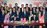 พิธีสรุปการเสร็จสิ้นโครงการเพิ่มความถี่และปรับปรุงระบบหลักพรมแดนเวียดนาม-ลาว
