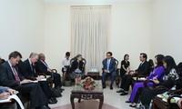 รองนายกรัฐมนตรี หวูดึ๊กดาม ให้การต้อนรับทูตพิเศษของสหประชาชาติเกี่ยวกับการใช้ความรุนแรงต่อเด็ก