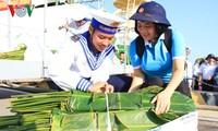 รายการถ่ายทอดสดทางสถานีโทรทัศน์อวยพรเจ้าหน้าที่ทหารและประชาชนบนอำเภอเกาะเจื่องซาในโอกาสตรุษเต๊ต