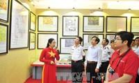 งานนิทรรศการแผนที่และเอกสารเกี่ยวกับหว่างซาและเจื่องซาของเวียดนาม ณ อำเภอเกาะฟู้ก๊วก