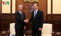 ประธานประเทศ เจิ่นด่ายกวาง ให้การต้อนรับประธานและบรรณาธิการใหญ่สำนักข่าว Kyodo News