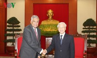 เลขาธิการใหญ่พรรคคอมมิวนิสต์เวียดนามและประธานประเทศเวียดนาม ให้การต้อนรับนายกรัฐมนตรีศรีลังกา