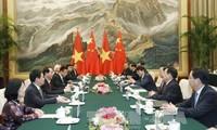 ผลักดันความสัมพันธ์หุ้นส่วนร่วมมือยุทธศาสตร์ในทุกด้านเวียดนาม-จีน