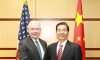 จีนและสหรัฐผลักดันความร่วมมือเพื่อต่อต้านยาเสพติดและความมั่นคงทางอินเตอร์เน็ต