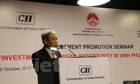 การสัมมนาเกี่ยวกับโอกาสการลงทุนและประกอบธุรกิจของสถานประกอบการอินเดียในจังหวัดหวิงฟุก