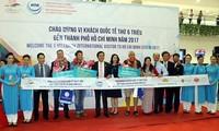 นครโฮจิมินห์ต้อนรับนักท่องเที่ยวต่างชาติคนที่ 6 ล้าน