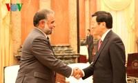 President receives parliamentary speakers attending IPU 132
