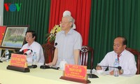 Party leader urges measures to fight drought, saline intrusion in Mekong Delta