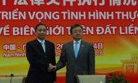 Vietnam, China improve implementation of legal documents on land border management