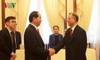 陈大光会见摩洛哥驻越南大使霍辛·法达尼