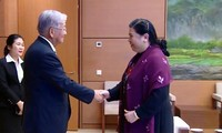 越南国会副主席丛氏放会见世界卫生组织西太平洋地区办公室主任申英秀
