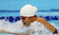 越南游泳运动员阮叶芳簪夺得东南亚游泳比赛4枚银牌