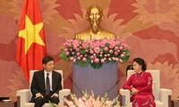 阮氏金银会见韩国和伊朗驻越大使
