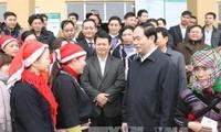 """越南国家主席陈大光:照顾政策优抚对象、贫困户过好年,保障""""家家欢度春节"""""""