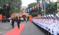 越南国家主席陈大光在海防市拜年