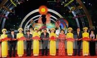 越南国会主席阮氏金银出席2017年丁酉春节阮惠花街开幕式