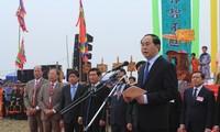 越南国家主席陈大光出席2017年堆山籍田节