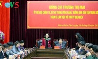 越共中央民运部部长张氏梅视察奠边省