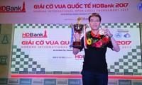 黎光廉夺得2017年胡志明市开发银行杯国际象棋公开赛冠军