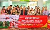 越捷开通河内至新加坡航班