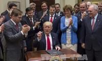 特朗普对执政100天的成绩感到满意