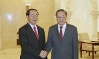 陈大光会见中国全国政协主席俞正声