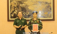 越南再有3名军官参加联合国维和任务