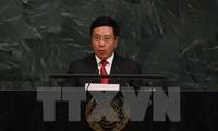 越南政府副总理兼外长范平明出席联大会议期间的活动