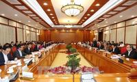 阮富仲与河内市委常务委员会座谈