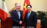 越南政府副总理范平明会见爱尔兰教育部长理查德·布鲁顿