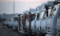 Russian trucks carrying humanitarian aid to arrive in Ukraine