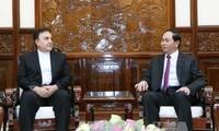 President Tran Dai Quang receives Iranian Ambassador to Vietnam