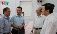 Президент СРВ Чыонг Тан Шанг встретился с избирателями 3-го и 4-го районов г.Хошимина