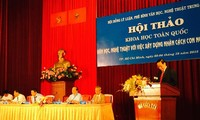 Роль литературы и искусства в восспитании человеческих достоинств вьетнамцев