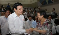 Президент СРВ Чыонг Тан Шанг встретился с избирателями г.Хошимина