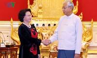 Нгуен Тхи Ким Нган встретилась с президентом Мьянмы
