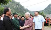 Генсек ЦК КПВ Нгуен Фу Чонг совершил рабочую поездку в провинцию Баккан