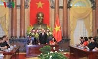 Чан Дай Куанг принял делегацию Международной федерации обществ Красного Креста и Красного Полумесяца
