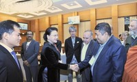 Нгуен Тхи Ким Нган приняла делегацию Исполкома Всемирного совета мира