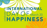 Art exchange marks International Day of Happiness