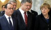 Germany, France, Ukraine call for full implementation of Minsk agreement
