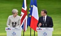 Theresa May y Emmanuel Macron se reúnen para hablar del Brexit