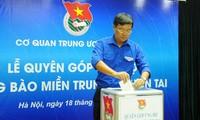Recaudan fondos en apoyo a las personas afectadas por desastres naturales en el centro vietnamita