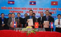 Promueven la cooperación juvenil entre Vietnam, Laos y Camboya