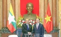 Trần Đại Quang reçoit le président du parlement du Myanmar